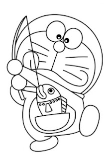 Gambar Doraemon Hitam Putih 4