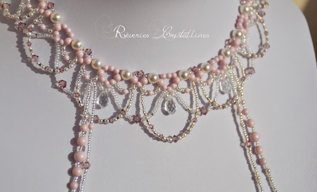 bijou mariée perles et cristaux de swarovski