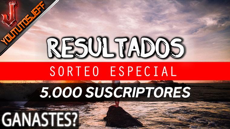Ganadores del Sorteo Especial 5.000 Suscriptores   2016