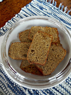 Whole Grain Banana Bread with Lime, sliced.