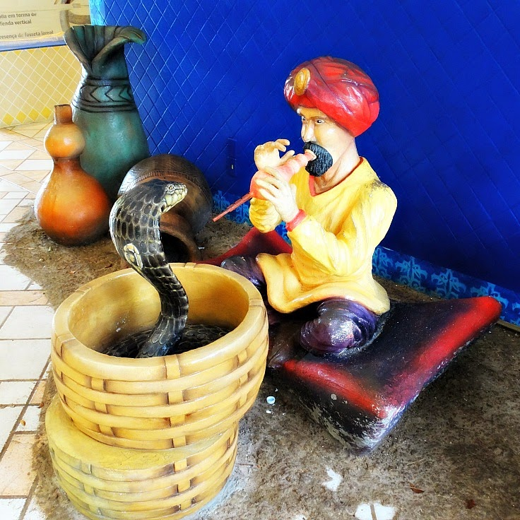 Encantador de serpentes no Serpentário, do Beto Carrero World