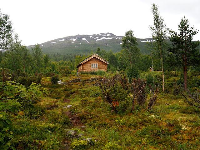 chata Ingjerdbu,Vettismorki, trek, turistika, příroda, Norsko, Jotunheimen