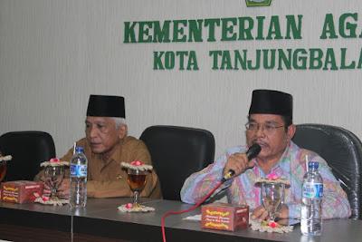 Kabid Urais & Binsyar Kanwil Kemenagsu Berikan Pembinaan Dijajaran Seksi Bimas Islam Kemenag Tanjungbalai