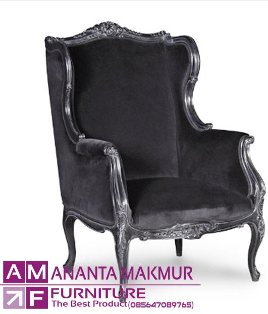 kursi sofa wing chair elegan