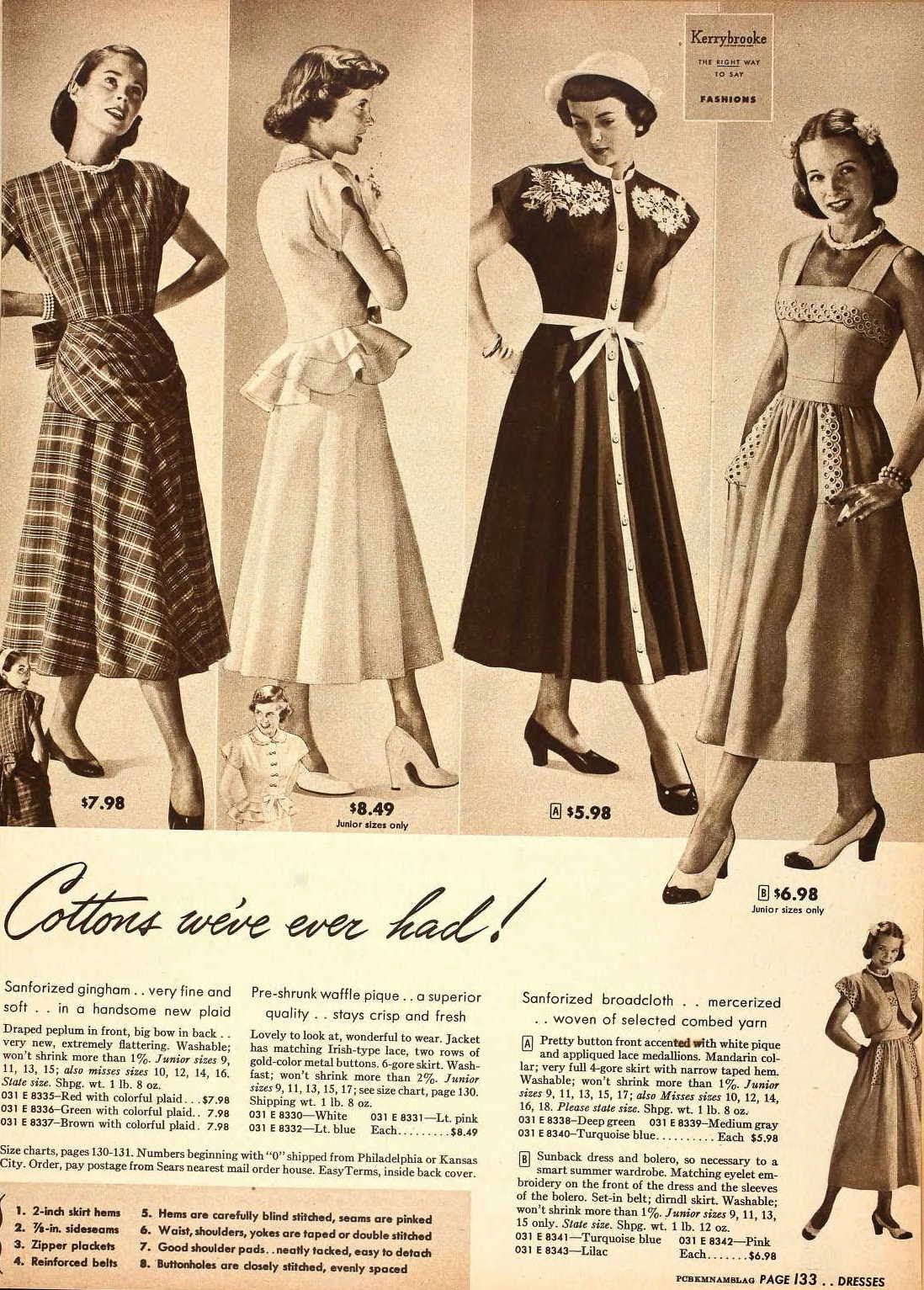 1940s Style Dresses Fashion Clothing: Snapped Garters: Dress Of The Century: 1940-1949