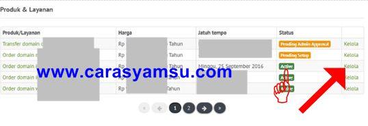 Cara kelola Domain TLD di dashboard layanan penyedia domain