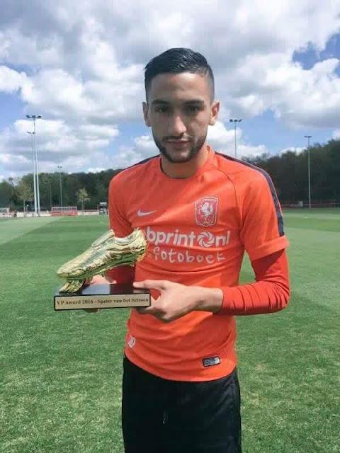 Hakim Ziyech nommé meilleur joueur du championnat Hollandais
