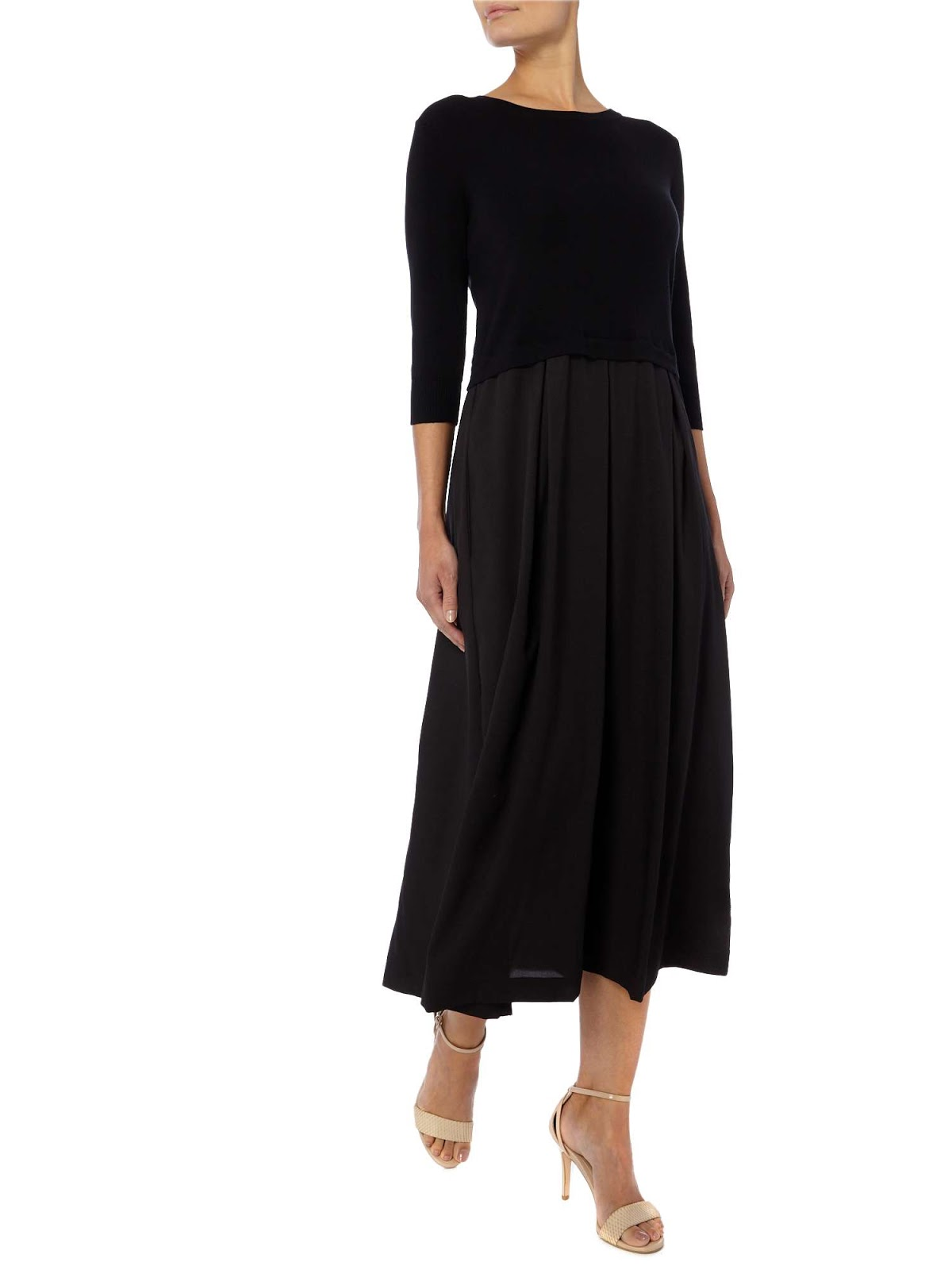 Max Mara Weekend Long Sleeve Two Layer Dress