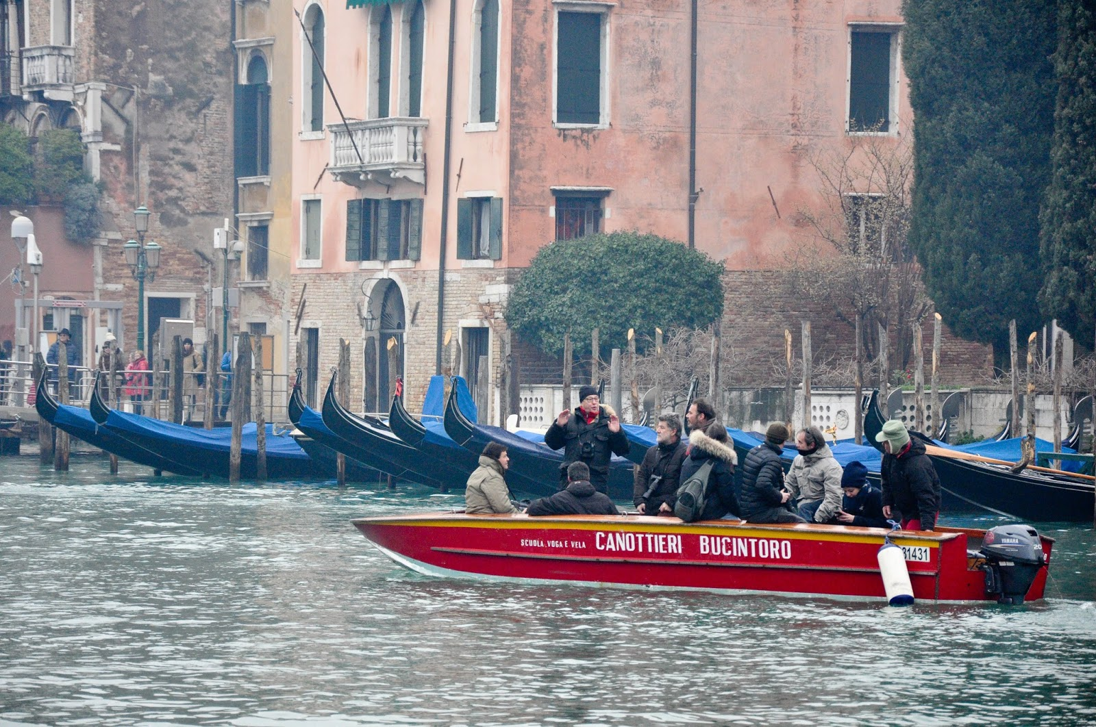 Press boat, Befana race, Venice, Italy