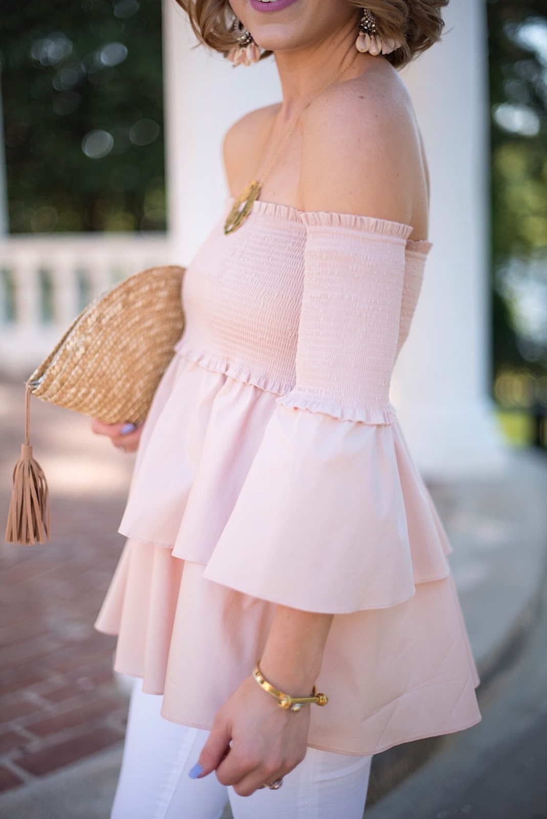 Blush Smock OTS Top - Click through to see more on Something Delightful Blog :)