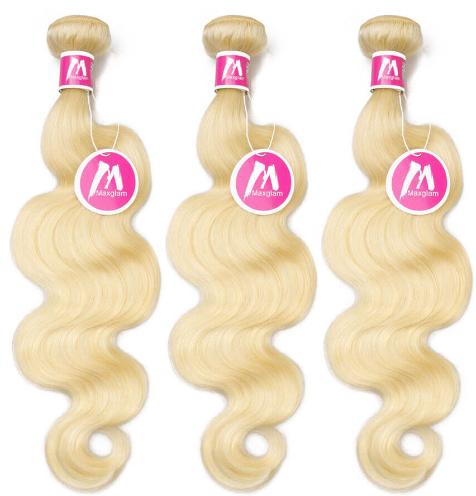 blonde weave