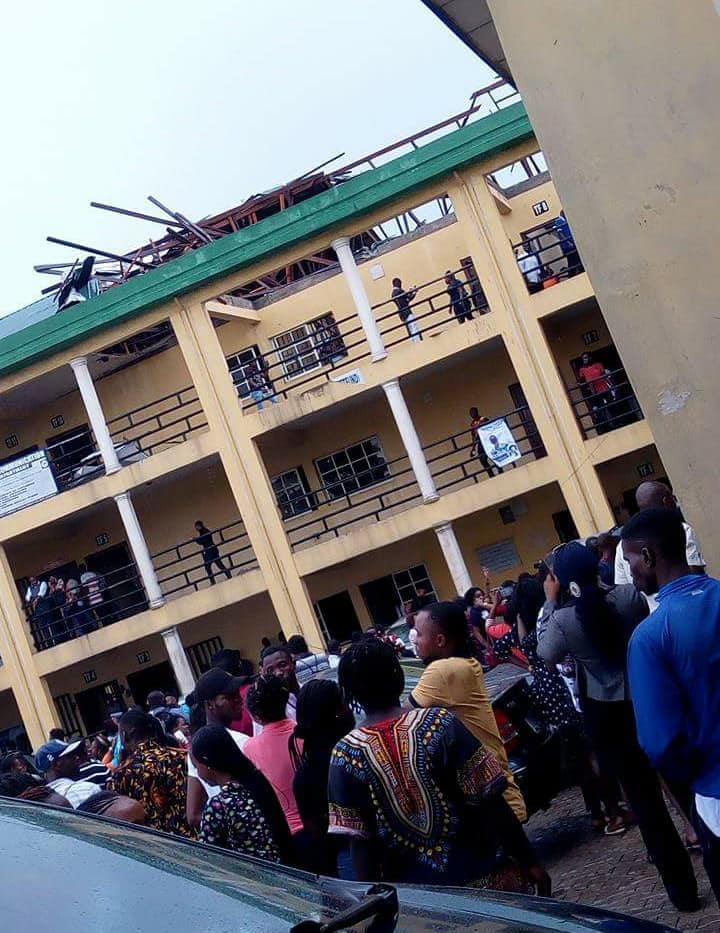 Elechi Amadi Polytechnic Students, Staff Escape Death as Rainstorm Destroys Building
