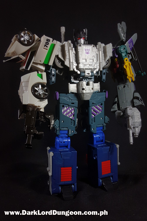 Takara Godbombers legs attached to Bruticus.