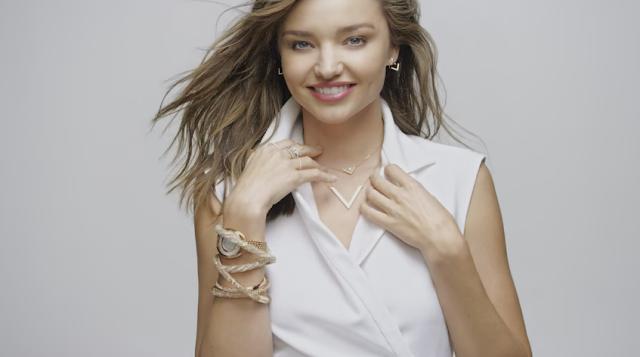 miranda kerr modella testimonial swarovski orologi pubblicita 2016