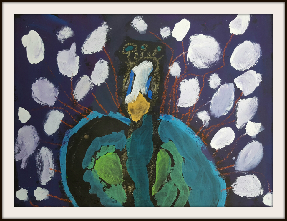 Marymaking Expressive Painted Peacocks