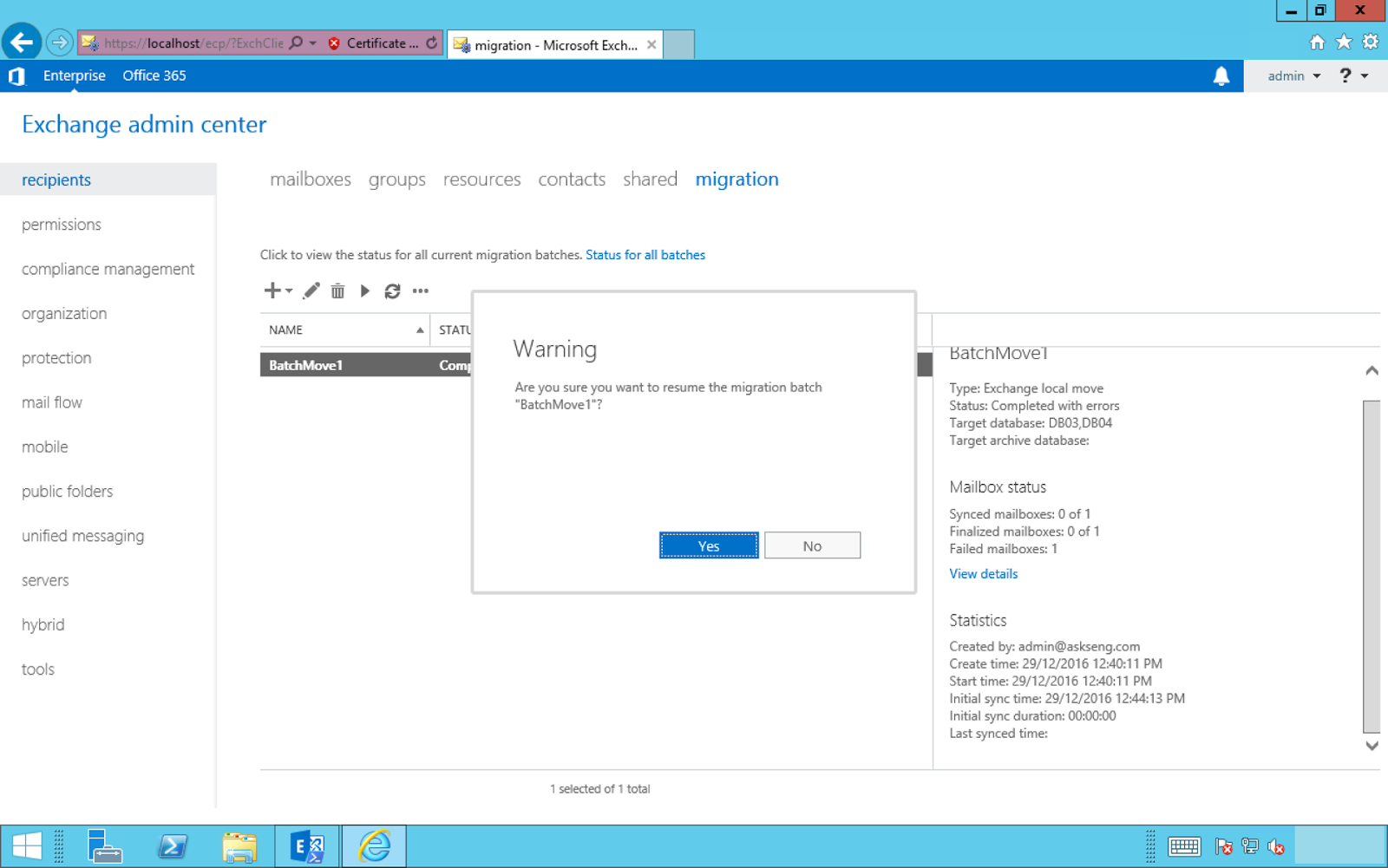 How To Migrate Mailboxes from Exchange 2010 to Exchange 2016 using ...
