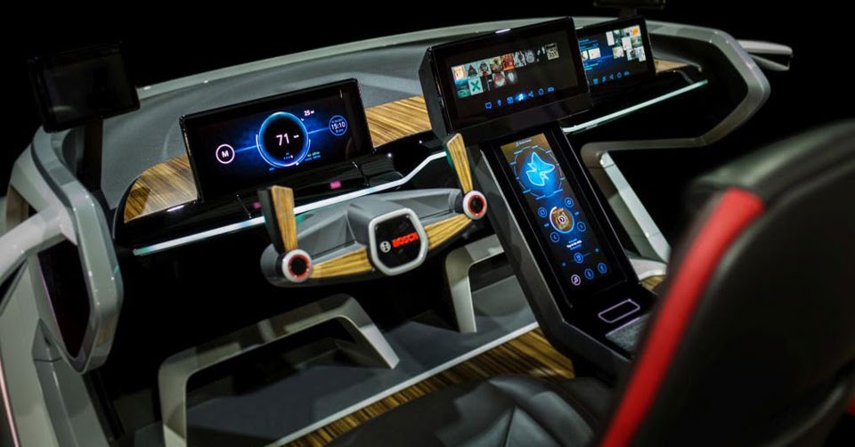 ces 2017 bosch debuts futuristic tech laden car concept. Black Bedroom Furniture Sets. Home Design Ideas