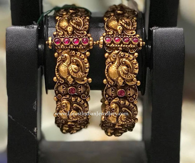 Heavy Peacock Bangles