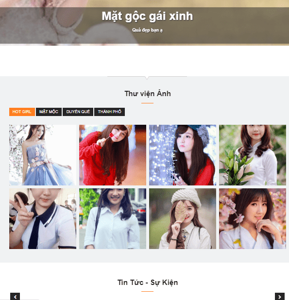Theme blogspot show hình gái xinh đẹp