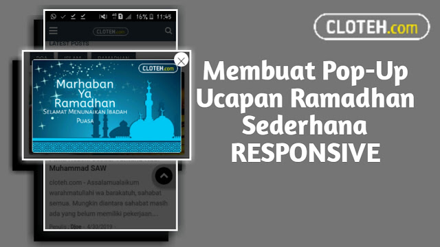Cara Membuat Pop-up responsive