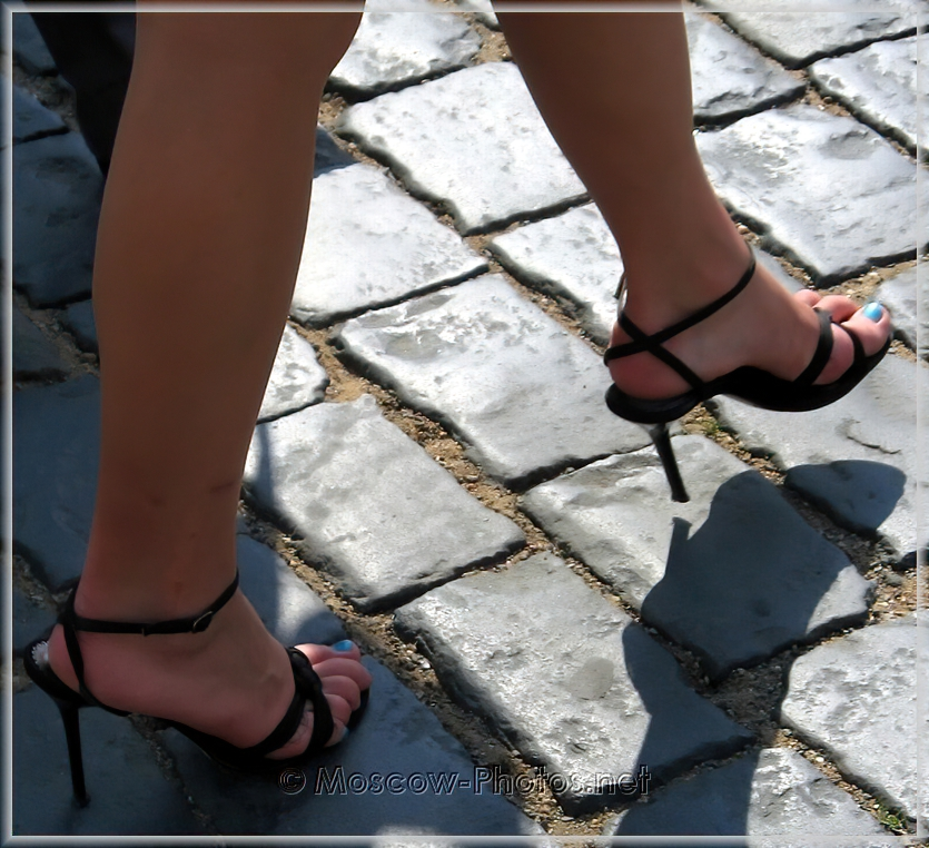 Black Summer Braided High Heel Shoes