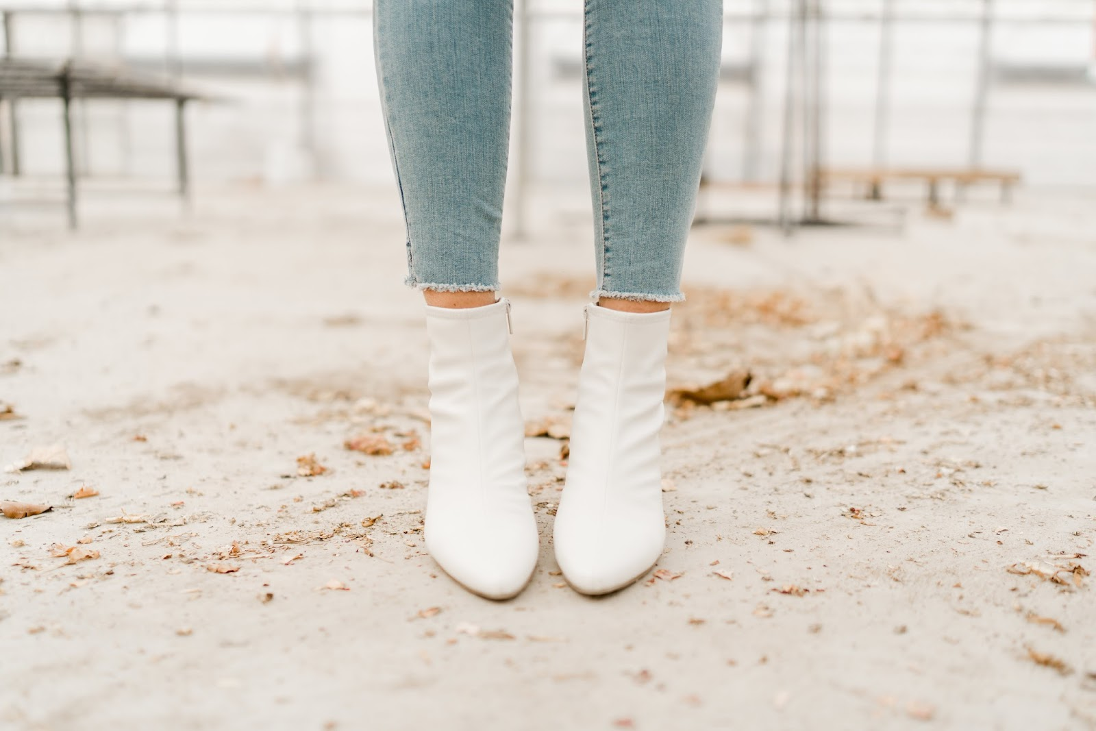 White boots, Jeans, Utah Fashion Blogger