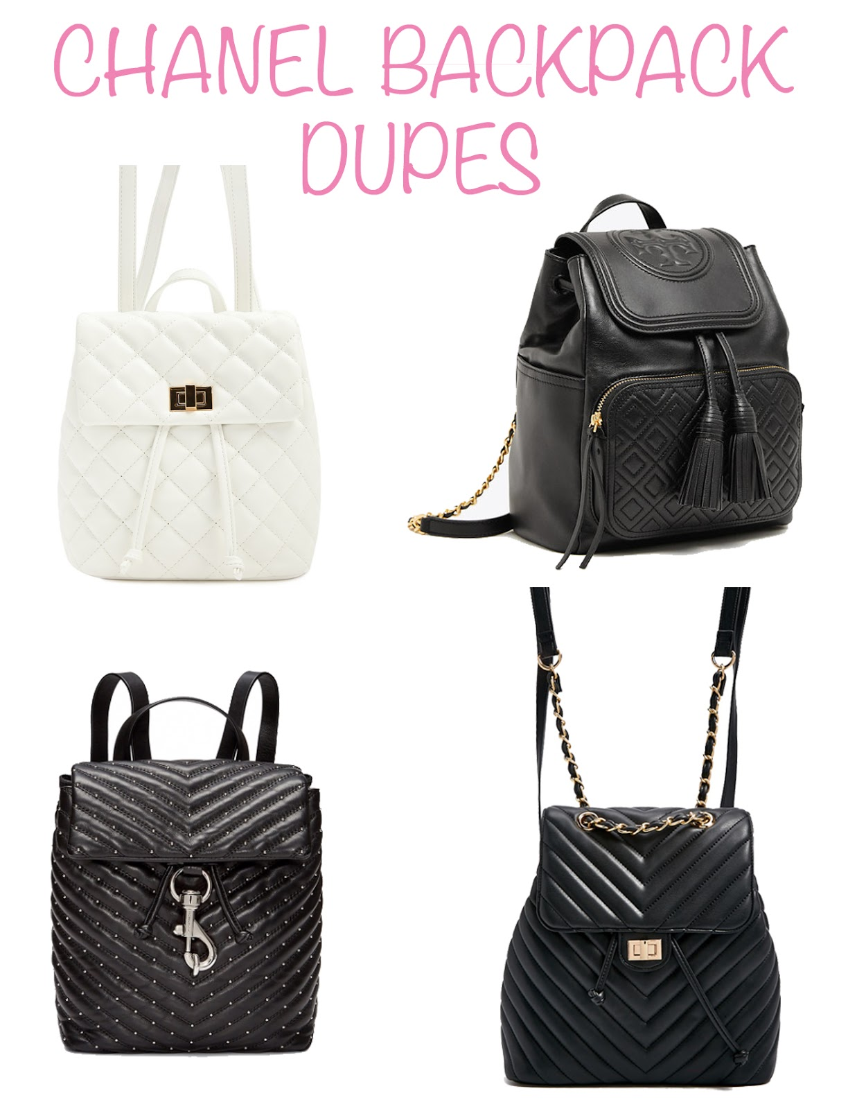 5ecec53893cb Fashion Files: Chanel Backpack Dupes - Royally Pink