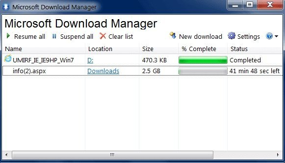 MDM (Microsoft Download Manager)