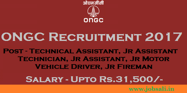 ONGC Careers, ONGC Jobs in Chennai, Latest Govt jobs 2017
