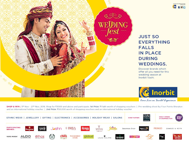 Inorbit mall, Vashi is all set be the ideal wedding shopping destination.