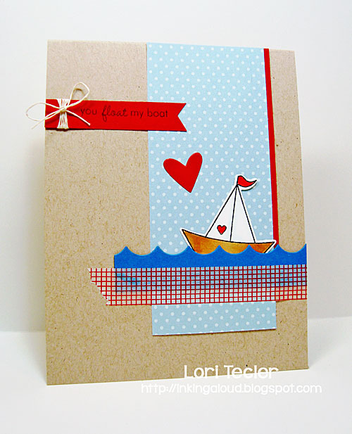 You Float my Boat card-designed by Lori Tecler/Inking Aloud-stamps from Papertrey Ink