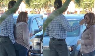 Άντρας βάζει το χέρι του μέσα στο παντελόνι της γυναίκας του και μετά της το δίνει να το μυρίσει