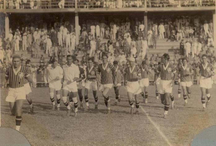 Fluminense no primeiro jogo da temporada 1933. Foto  Divulgação. 2335514cccb18