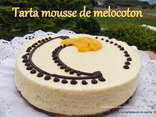 Tarta Mousse De Melocoton