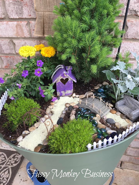 Fussy Monkey Business: Fairy Garden And It's Progress