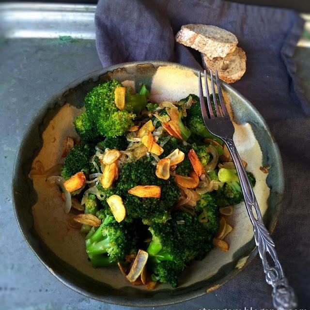 Brokuły z sosem ostrygowym
