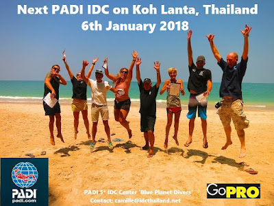 First PADI IDC in 2018 will start 6th January on Koh Lanta, Thailand
