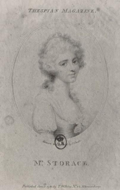 Portrait de Nancy Storace par John Condé d'après une miniature