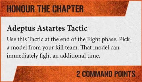 Táctica Kill Team Honrar al cpítulo