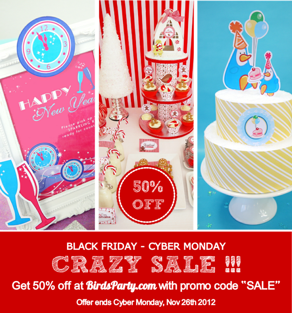 Our 2012 Black Friday & Cyber Monday Sale - BirdsParty.com