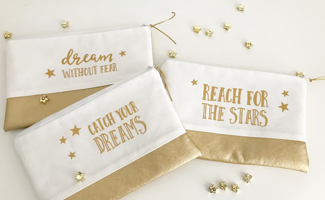 mit Strich und Faden: dream without fear | catch your dreams | reach for the stars