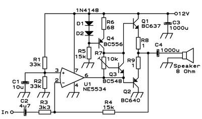 Kumpulan desain PCB: Mini Power Amplifier NE5534