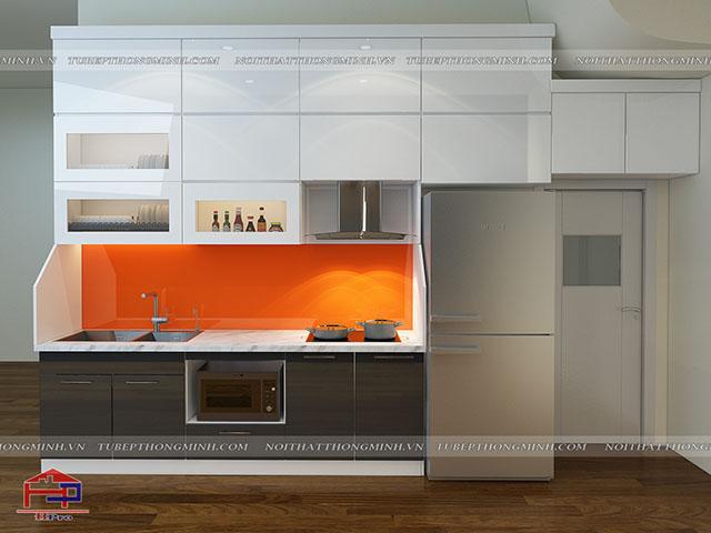 Mẫu thiết kế tủ bếp nhựa acrylic -3