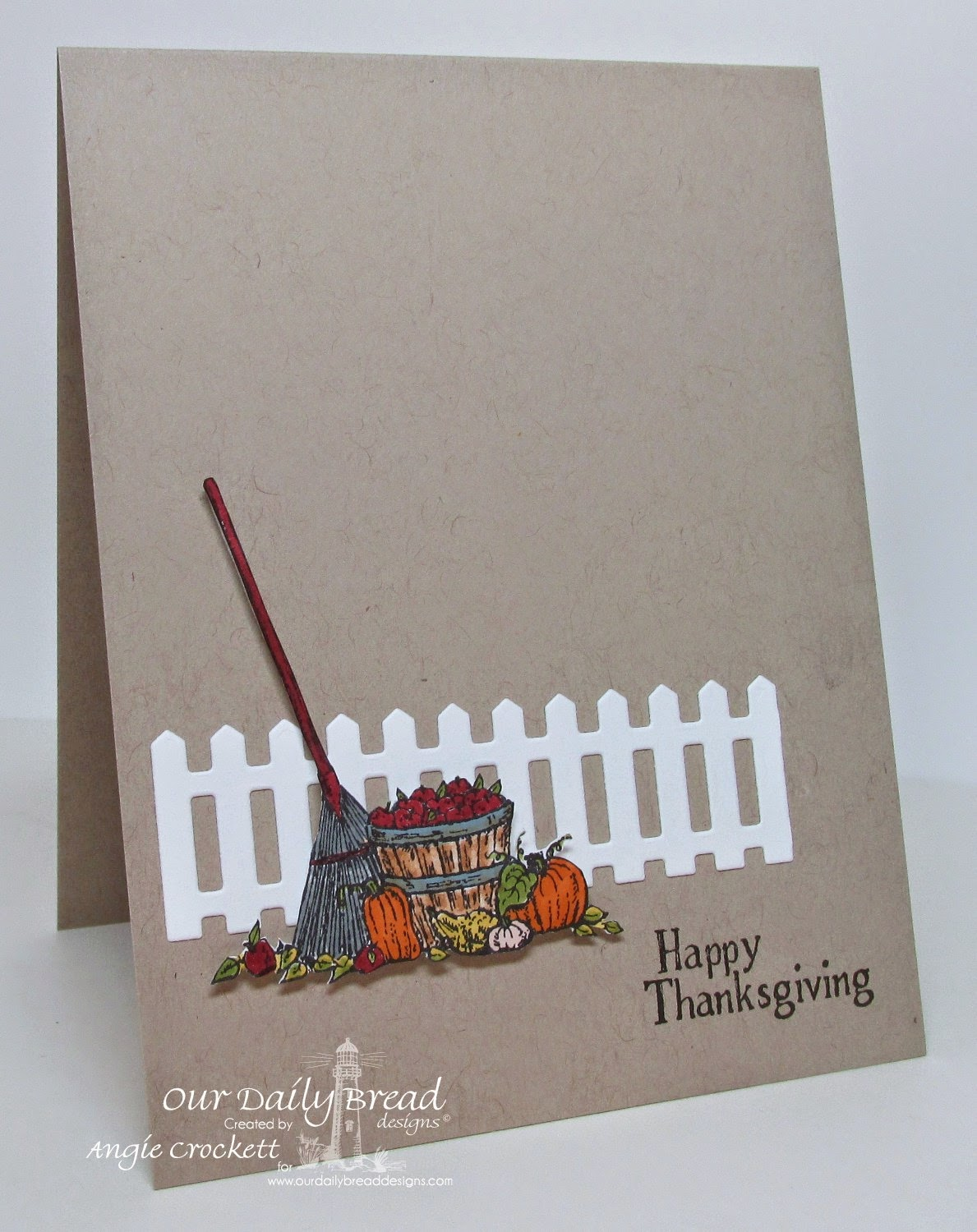 ODBD Autumn Tree, ODBD Fence Die, Card Designer Angie Crockett
