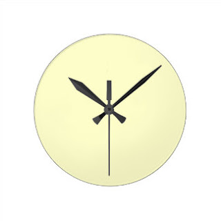 Cream wall clock
