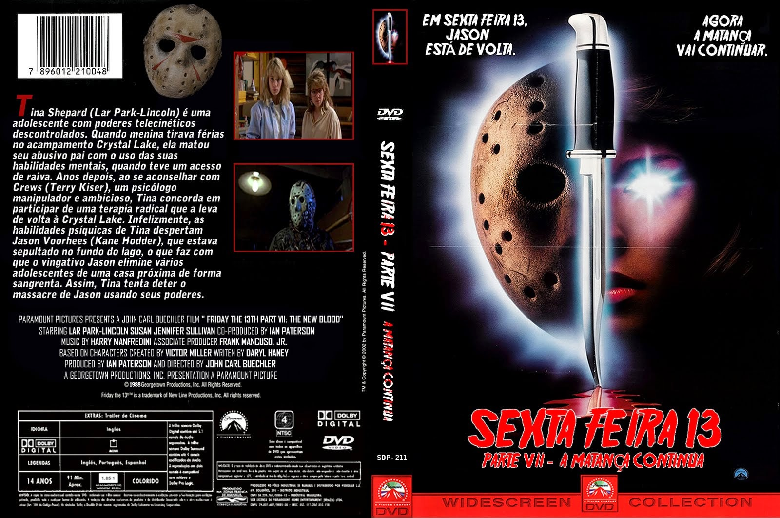 Sexta-Feira 13 Parte 7 - A Matança Continua (Friday the 13th Part VII: The New Blood) DVD Capa