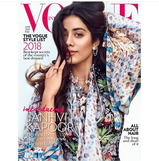 Janhvi Kapoor is the Latest Cover Girl of Vogue's June 2018 Issue