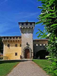 The Castle of Cafaggiolo was a Medici summer residence