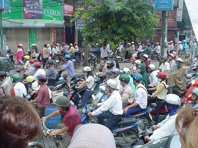 Moto Vietnam. Traffic Moto Vietnam
