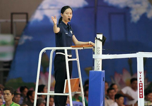 Nữ trọng tài Nguyễn Thị Thanh Tuyền (Vĩnh Long) sẽ làm nhiệm vụ cùng VTV Bình Điền Long An